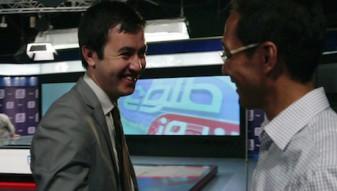 J. Dimog und Lotfullah lachen-be