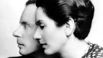 Klaus and Erika Mann, son and daughter of German novelist and Nobel Prize winner Thomas Mann, c. 1930's.